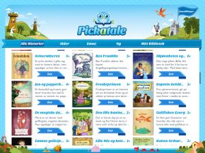 Pickatale har en mengde barnebøker